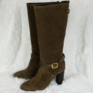 Coach Robynn Suede Mid-Calf Boots